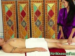 Hot latina masseuse jerk