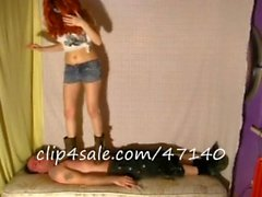 Lady Sara and Lady Amber humiliate and trample preview