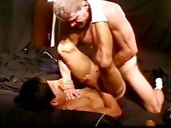 CBTFUCK Asian muscle stud fucked by a hot redhead muscle hunk as he squeezes his balls.