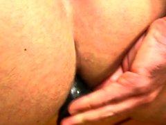 Muscle Homosexuell Dildo mit abspritzen