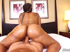Anal Fucking Thick Butt Big Tits Ebony Milf POV