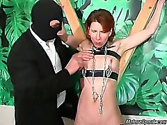Sexy and nasty slut with hot body gets her tits tied and