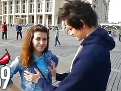Guy touches a 1000 pair of boobs in public