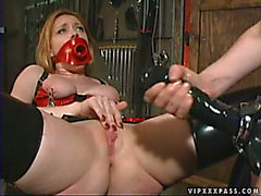Hawt Lesbo Ding-Dong Fuck By Latex Clad Dominatrix Anastasia Pierce