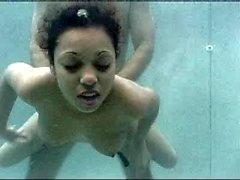 Hot fuck underwater in scuba gear