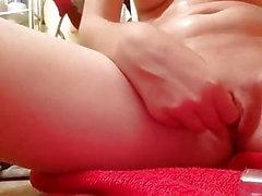 Small tit redhead vibrator masterbate