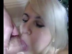 Cute Blonde Girl Blowjob