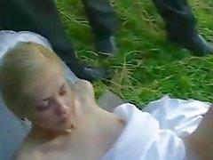 Bride Fick öffentlich nach Hochzeits