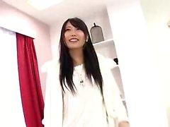 Asiatiska japansk tonåring strumpor avsugning