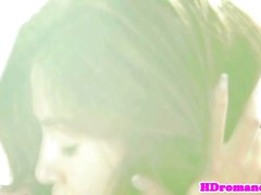 Romantic lesbian pussylicking gf in couple