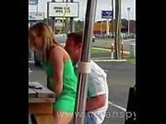 Couple having sex in a restaurant