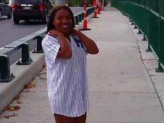 Black Woman Walking Naked in Public