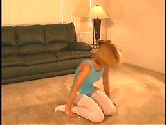 pantyhose leotard tease 1