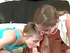 MILF Fucks Her Teen Daughter With Strapon
