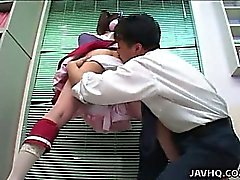 Japanese teen cosplay babe gets hard fuck Uncensored
