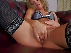 Horny Honey in Stockings Uses Speculum