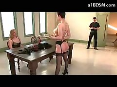 2 Girls Trained As Slave Licking Each Other Pussies In 69 One Licking Mistress Pussy Other Fucked By Master On The Desk