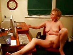 Granny Masturbating On Webcam