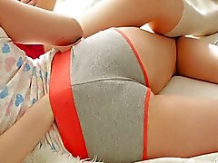 Perfect young girls playing together