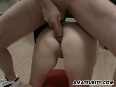 Adult blonde gets her pussy banged and toyed in a physician