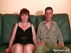 Brunette mature chubby slut gets her part3