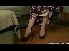 Mom looks so hot in her nylons