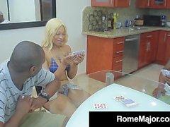 Ebony Babe Destiny Dream Gets 2 Big Black Cocks & Their Cum!