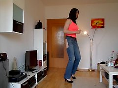 Sandralein33 Raucher Hot Jeans im Used-Look
