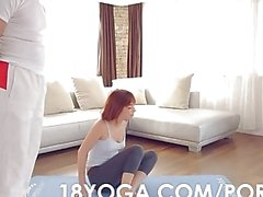 Yoga Teen Tina Hot Choked Slapped Anal Creampied in the Ass