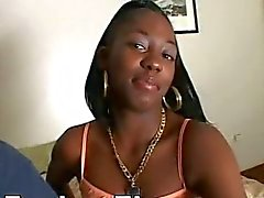 Ebony Teen Riding Till Guy Cums