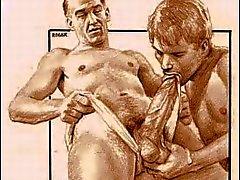 Weinlese-männliche Erotica