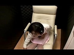 Dazzling Japanese babe with big hooters gently rubs her ach