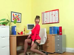 Incredibly subtle secretary only teasing