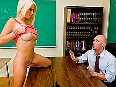 Horny big-tit student Alexis Ford dreams of fucking her teacher