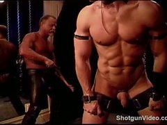 Muscle stud butt flogging and whipping