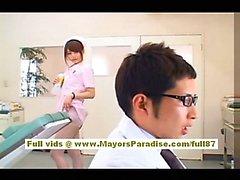 Akiho Yoshizawa Сексуальная Азиатский няня находится дразнить к врачу