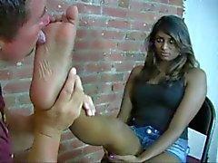 nice indian pria get her toe sucking