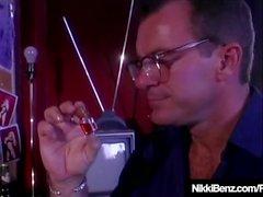 Horny Kanadan Nikki Benz Fucked & Spied On by Peeping Tom!