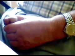 gandpa Schlaganfall vor der Webcam