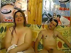 Franska mogna BBW knullad och anal feeting