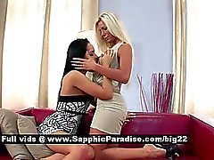 Maddy and Esmeralda stunning stunning lesbians teasing