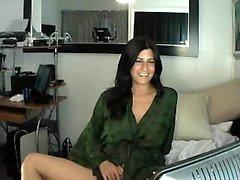 Shyla Jennings striptease de ropa interior de encaje