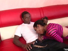 Tia Cyrus gets her Latina pussy filled to the brim by...