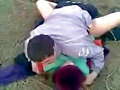 Friend Tapes Russian Couple Fucking In Field
