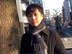 étudiant japonais tire sur cums