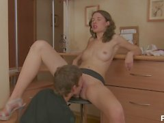 Euro babe gets plowed