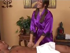 hot woman massage asian guy
