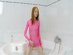 estonian super skinny chick on the bath