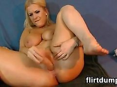 Thick Blonde Web Cam Slut