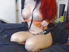 Busty Redhead GF Getting Nailed Homemade Sex Cam Video